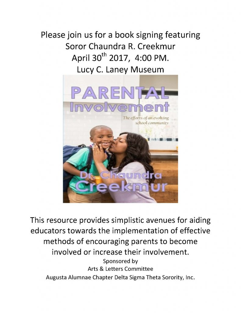 Book Signing: Parental Involvement by Dr. Chaundra Creekmur @ Lucy Craft Laney Museum of Black History | Missoula | Montana | United States