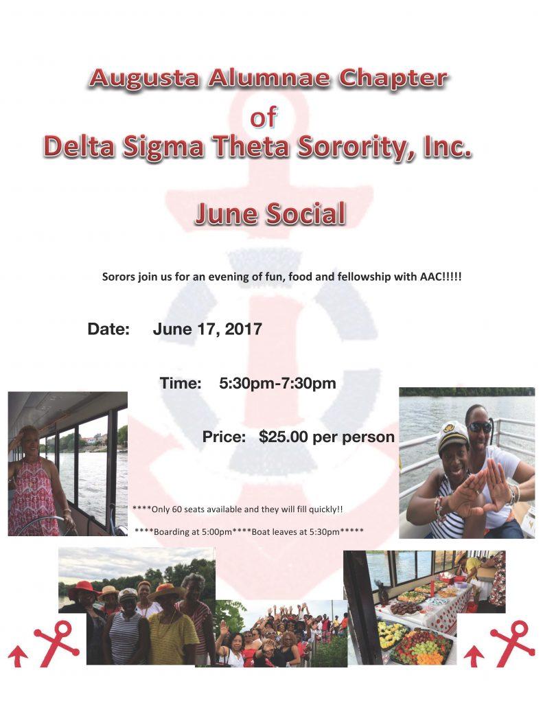 JUNE SOCIAL 2017 (Boat Cruise)