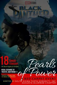 """Pearls of Power""-Red Carpet Event Movie: BLACK PANTHER in 3D @ Regal Exchange 20 Theater, Auditorium 11 