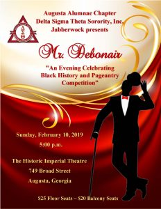 "Jabberwock Presents Mr. Debonair ""An Evening Celebrating Black History and Pageantry Competition"" @ Historical Imperial Theater"