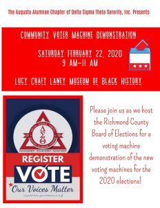 Community Voter Machine Demonstration @ Lucy C. Laney Museum